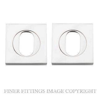 IVER 20108 SQUARE OVAL ESCUTCHEON 52MM POLISHED NICKEL