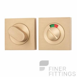 IVER 20116 SQUARE INDICATING PRIVACY SET 52MM SATIN BRASS