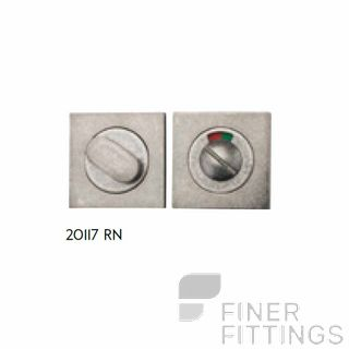 IVER 20117 SQUARE INDICATING PRIVACY SET 52MM RUMBLED NICKEL