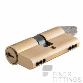 IVER 8550 EURO DOUBLE KEYED LOCK CYLINDERS 45MM BRUSHED BRASS