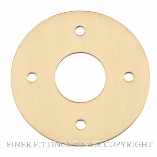 IVER 20083 ADAPTOR PLATE ROUND - SUIT 54mm HOLE (SOLD AS A PAIR) BRUSHED BRASS