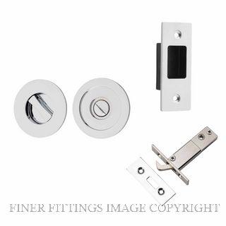 IVER 21434 ROUND SLIDING DOOR PRIVACY SET CHROME PLATE