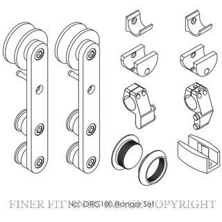 BRIO OPEN RAIL ROUND GLASS FITTING PACK SSS SATIN STAINLESS