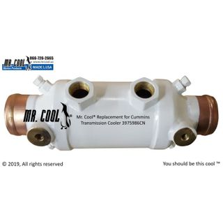 Cummins oil cooler 9 1/2 OA X 3 X 1 3/4 ends