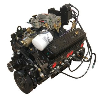 Chev 350 Vortec Long Block w/ Intake, Carb & Ignition System