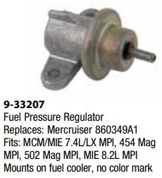 Mercruiser Fuel Pressuer Regulator - 7.4L/LX MPI, 454 Mag MPI, 8.2L MPI WAS $194