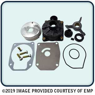 Complete Water Pump Kit J/E 40-50 2 Cyl 89-05