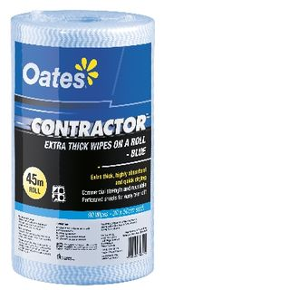 OATES CONTRACTOR EXTRA THICK WIPES ON A ROLL 90S BLUE