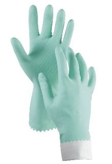 OATES DURAFRESH FLOCK LINED RUBBER GLOVES SMALL