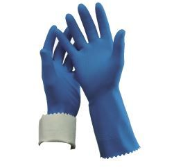 OATES FLOCK LINED RUBBER GLOVES SIZE 9 - 9 1/2
