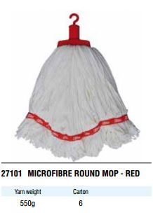 EDCO MICROFIBRE ROUND MOP 350G RED