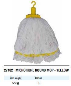 EDCO MICROFIBRE ROUND MOP YELLOW 350G