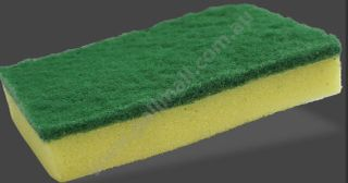 PALL MALL GALA SPONGE SCOURER GREEN 150 x 100mm