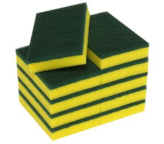 EDCO SUPER QUALITY INDUSTRIAL SCOURER SPONGE YELLOW 15x10x3cm