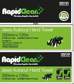 RAPID JAWS MINI AUTO CUT HAND TOWEL 077515