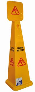 EDCO LARGE PYRAMID CAUTION WET FLOOR SIGN 1 ONLY