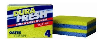 OATES DURAFRESH THICK N LARGE SPONGE 4PK