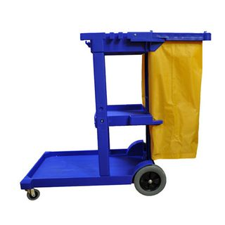 EDCO JANITOR CART - BLUE