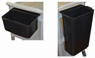 EDCO UTILITY CART BIN (1 SMALL CUTLERY BIN & 1 LARGE WASTE BIN)