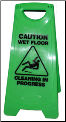 OATES A FRAME CAUTION WET FLOOR SIGN GREEN