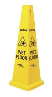 OATES LGE CAUTION WET FLOOR CONE - 1040MM HIGH