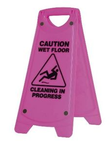 OATES A FRAME CAUTION WET FLOOR SIGN PINK