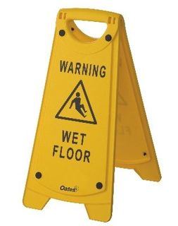 OATES NON-SLIP A-FRAME SIGN WET FLOOR YELLOW