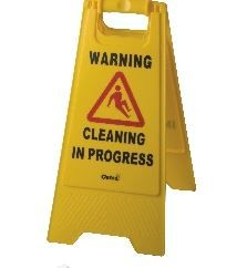 OATES CONTRACTOR A-FRAME WARNING SIGN YELLOW