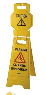 OATES HIGH VIEW A-FRAME WARNING SIGN YELLOW