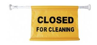 OATES DOOR CLOSED FOR CLEANING SIGN