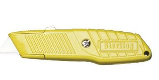 SHEFFIELD BLADES ULTRA GRIP RETRACTABLE YELLOW KNIFE