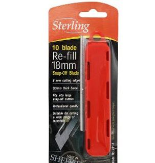 SHEFFIELD STERLING LARGE SNAP OFF BLADES 18MM