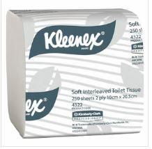 KIMBERLEY CLARK KLEENEX SOFT INTERLEAVED TOILET PAPER