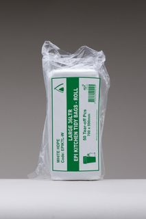 TAILORED PACKAGING BIN LINERS ROLL LARGE EPI WHITE 36LT