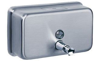 DAVIDSON S/ STEEL HORIZONTAL SOAP DISPENSER
