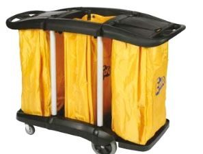 EDCO PREMIUM TRIPLE BAG LAUNDRY CART