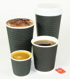 TAILORED PACKAGING  TRIPLE WALL COFFEE CUPS CHARCOAL 16OZ (500/CTN)
