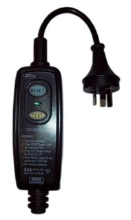 CLEANSTAR RCD WIREABLE INLINE 10AMP BLACK
