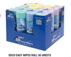 EDCO EASY WIPES ROLL 50PK