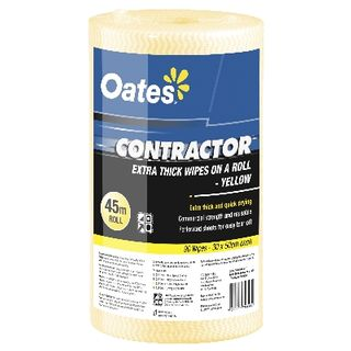 OATES CONTRACTOR EXTRA THICK WIPES ON A ROLL 90S YELLOW