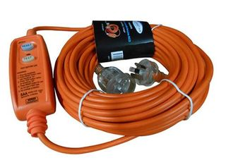 CLEANSTAR EXTENSION LEAD WITH BUILT IN RCD SAFETY SWITCH 10 AMP 20M