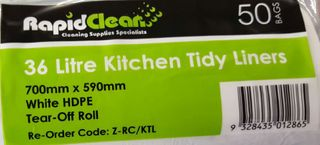 TAILORED PACKAGING SINGLE ROLLS KITCHEN TIDY BAGS 36LT