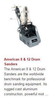 NILFISK AMERICAN 12 DRUM SANDER w/URETHANE WHEELS 230V/50Hz