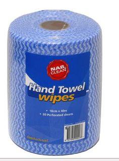 NAB HAND TOWEL WIPES 40M BLUE