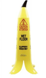 CLEANSTAR BANANA WET FLOOR CAUTION SIGN 90CM