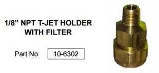 CLEANSTAR 1/8 NPT T-JET HOLDER WITH FILTER