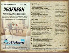 ACTICHEM DEOFRESH POWDER FRESH 20LT