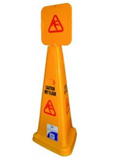 EDCO DELUXE TRIANGULAR WARNING SIGN CAUTION WET FLOOR