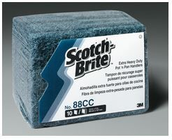 3M SCOTCH-BRITE #88 BLUE EXTRA HEAVY DUTY POT N PAN SCOURER