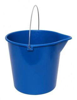 SABCO ROUND BUCKET WITH HANDLE 10LT BLUE